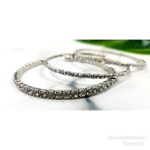 Boutique Jewelry - 3 Rhinestone bangle bracelets NWOT